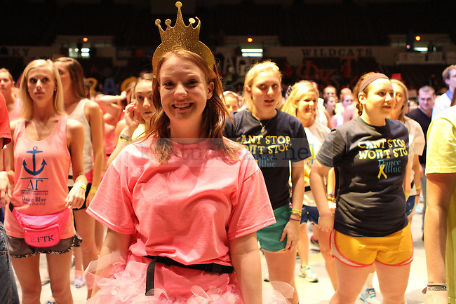 Sophomore CLD/Econ Major, Maureen Neal, smiles for the camera during DanceBlue, the 24 hour dance marathon, at Memorial Coliseum Saturday February 23th, 2013. Photo by Kirsten Holliday | Staff