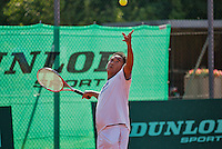 Netherlands, Amstelveen, August 22, 2015, Tennis,  National Veteran Championships, NVK, TV de Kegel,  Men's 55+, Frank Lapr&eacute;<br /> Photo: Tennisimages/Henk Koster