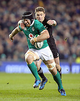 19th November 2016 | IRELAND vs NEW ZEALAND<br /> <br /> Sean O&rsquo;Brien is tackled by Beauden Barrett during the Autumn Series International clash between Ireland and New Zealand at the Aviva Stadium, Lansdowne Road, Dublin,  Ireland. Photo by John Dickson/DICKSONDIGITAL