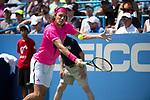 August 4,2018:   Stefanos Tsitsipas (GRE) loses to Alexander Zverev (GER 6-2, 6-4, at the CitiOpen being played at Rock Creek Park Tennis Center in Washington, DC, .  ©Leslie Billman/Tennisclix/CSM