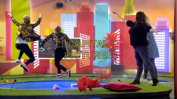 Celebrity Big Brother 2017<br /> Coleen Nolan, Jedward<br /> *Editorial Use Only*<br /> CAP/KFS<br /> Image supplied by Capital Pictures