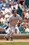 1 July 2005: Brian Schneider, catcher for the Washington Nationals, goes 3 for 5 at the plate against the Chicago Cubs. The visiting Nationals defeated the Cubs 4-3 at Wrigley Field in Chicago.  Mandatory Photo Credit: Ed Wolfstein