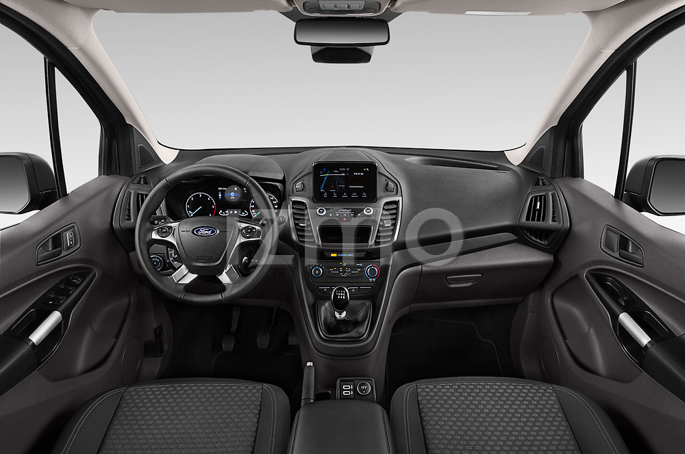 Stock photo of straight dashboard view of 2019 Ford Tourneo-Connect Trend 5 Door Mini Mpv Dashboard