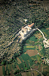 An aerial view of the Convent of the Hortus Conclusus in Artas outside Bethlehem