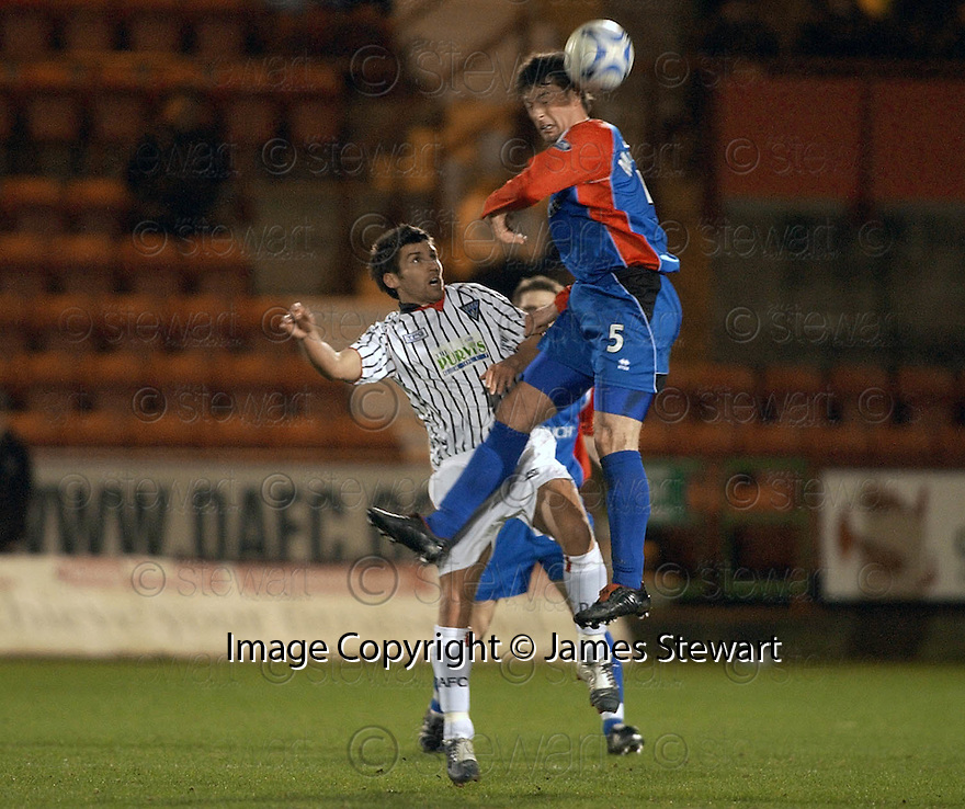 08/02/2006         Copyright Pic: James Stewart.File Name : sct_jspa05_dunfermline_v_ict.MARK BURCHILL AND STUART MCCAFFREY CHALLENGE.Payments to :.James Stewart Photo Agency 19 Carronlea Drive, Falkirk. FK2 8DN      Vat Reg No. 607 6932 25.Office     : +44 (0)1324 570906     .Mobile   : +44 (0)7721 416997.Fax         : +44 (0)1324 570906.E-mail  :  jim@jspa.co.uk.If you require further information then contact Jim Stewart on any of the numbers above.........