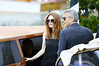VENICE, ITALY - September 1st: George Clooney and Julianne Moore Arrive at Darsena Excelsior during 74th Venice Film Festival at Excelsior Hotel on September 1st, 2017 in Venice, Italy. (Mark Cape/insidefoto)