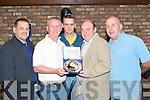 at the Annual prize night of Kingdom Boys/Tralee Dynamos soccer club held in the Blasket Inn Castle St Tralee last Saturday night were  Ger Maloney,Tony O Neill,Darran Crotty Adrain McHugh and Colm Clifford.