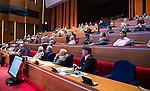 UTRECHT _ Algemene Ledenvergadering Utrecht, van de KNHB.  Overzicht auditorium Rabobank.  COPYRIGHT KOEN SUYK
