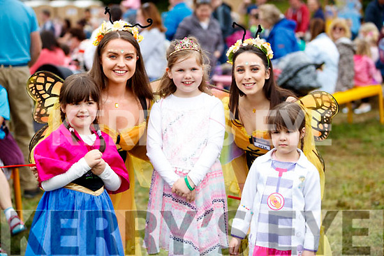 Katelyn Murphy, Siobhan Ryle, Jenna Louise O'Regan, Roza Karim and Aoife Murphy, pictured at Kilflynn Enchanted Fairy Festival on Sunday last.