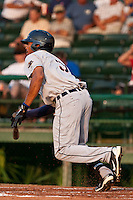 Daniel Fields #3 of the Lakeland Flying Tigers during a game against the Daytona Cubs at Jackie Robinson Ballpark on June 21, 2011 in Daytona Beach, Florida. (Scott Jontes / Four Seam Images)