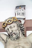 Germany, Baden-Wurttemberg, Breisgau-Hochschwarzwald: crucifix inside small chapel near St. Peter at Black Forest | Deutschland, Baden-Wuerttemberg, Breisgau-Hochschwarzwald: Kruzifix in kleiner Kapelle bei St. Peter im Hochschwarzwald