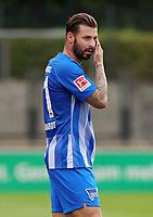 Niklas Stark  /   / Portrait     <br /> / Sport / Football / pre season friendly Bundesliga  DFL /  2018/2019 / 15.08.2018 / Hertha BSC Berlin vs. Hscher FC Chemie HFC / DFL regulations prohibit any use of photographs as image sequences and/or quasi-video. /<br />       <br />    <br />  *** Local Caption *** &copy; pixathlon
