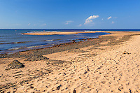 Sandy beach at Covehead Harbour along the Gulf of St. Lawrence