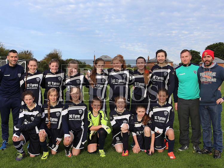 Ardee Celtic U14 Girls ahead of match against Termonfeckin FC U14 at Termonfeckin FC <br /> <br /> <br /> Photo - Jenny Matthews