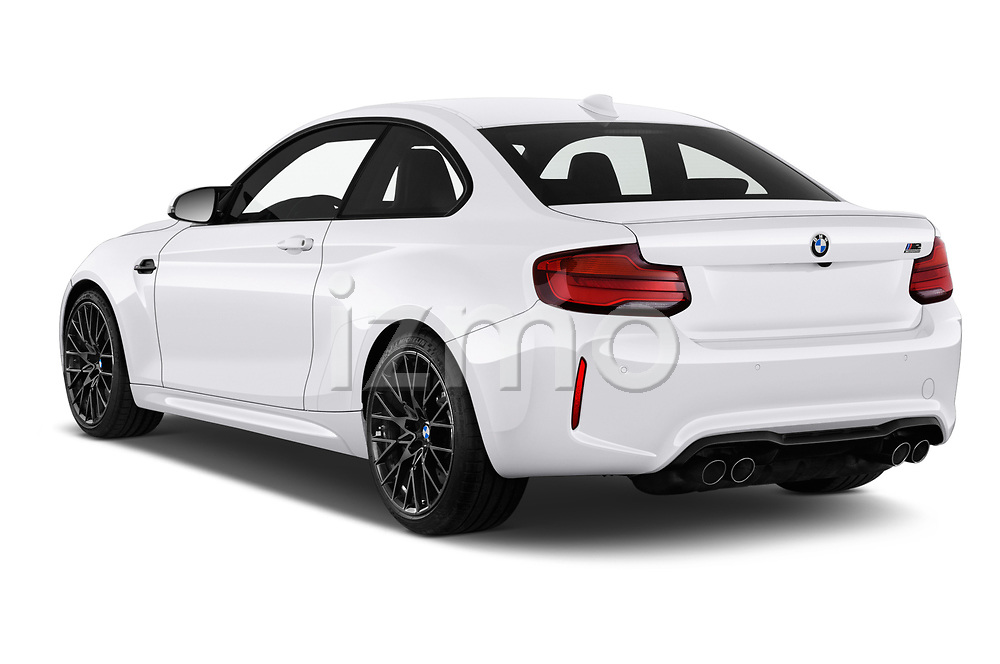 Car pictures of rear three quarter view of a 2019 BMW m2 competition Base 2 Door Coupe angular rear