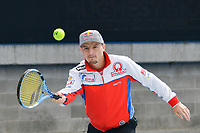 October 24, 2018: MotoGP rider Jack Miller plays tennis with fellow rider Andrea Dovizioso at Melbourne Park before the 2018 MotoGP of Australia to be held at Phillip Island Grand Prix Circuit, Victoria, Australia. Photo Sydney Low