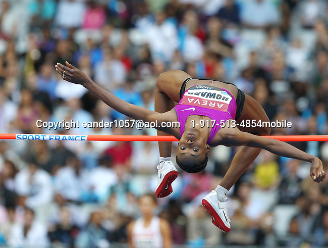 Chaunte Lowe finished 2nd. in the high jump with a mark of 2.00m at the Samsung Diamond League held in Paris, France on Friday, July 16, 2010. Photo by Errol Anderson