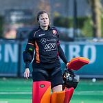 Laren - Saskia van Duivenboden (OR) tijdens de Livera hoofdklasse  hockeywedstrijd dames, Laren-Oranje Rood (1-3).  COPYRIGHT KOEN SUYK