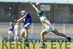 Shane Nolan Kerry in action against David King Offaly in the National Hurling League in Austin Stack Park, Tralee on Sunday.