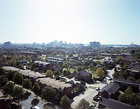 1991 August ..Redevelopment.E Ghent South (A-1-1)..Ghent Square Low/Oblique.From John Knox Towers looking Southeast toward Downtown...NEG#.NRHA#..08/91 (REDEV  :E.Ghent3:2  :2  :  FR4).
