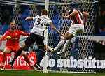 Jack O'Connell of Sheffield Utd rises up to head the ball during the Championship match at the Macron Stadium, Bolton. Picture date 12th September 2017. Picture credit should read: Simon Bellis/Sportimage