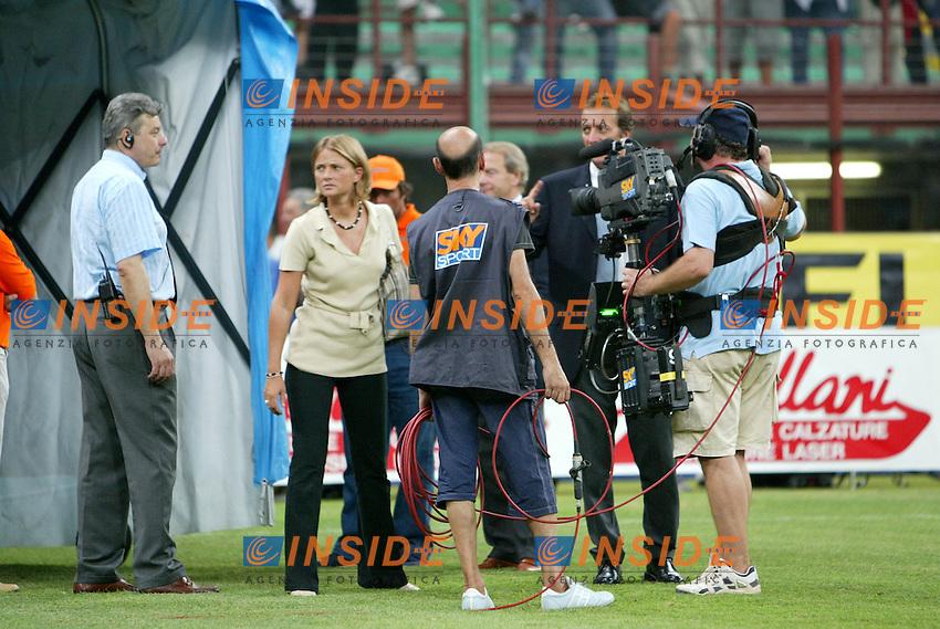 Milano 17/8/2003<br /> Trofeo Berlusconi<br /> Milan - Juventus 0-2<br /> Sky television<br /> Foto Andrea Staccioli Insidefoto
