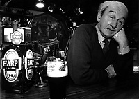 John B Keane in his pub in Listowel in 1986.Picture by Don MacMonagle