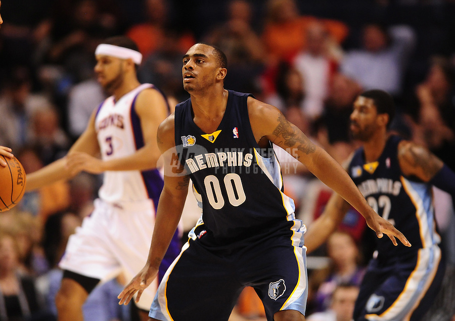 Dec. 8, 2010; Phoenix, AZ, USA; Memphis Grizzlies forward (00) Darrell Arthur against the Phoenix Suns at the US Airways Center. Memphis defeated Phoenix 104-98 in overtime. Mandatory Credit: Mark J. Rebilas-