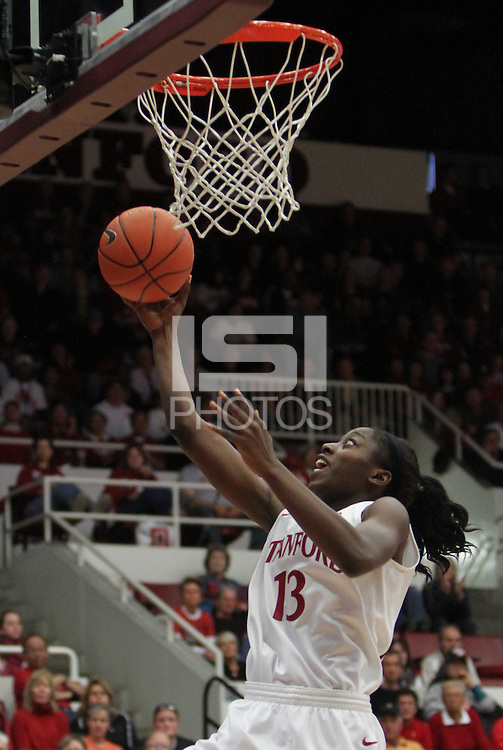 STANFORD, CA:  Chiney Ogwumike during Stanford's 82-35 victory over Arizona State at Stanford, California on January 8, 2011.