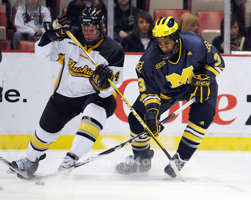 University of Michigan Ice Hockey vs Michigan Tech at Joe Louis Arena in Detroit MI for the Great Lakes Invitational.