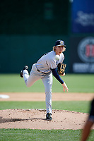 Kane County Cougars starting pitcher Sam McWilliams (33) delivers a pitch during a game against the South Bend Cubs on May 3, 2017 at Four Winds Field in South Bend, Indiana.  South Bend defeated Kane County 6-2.  (Mike Janes/Four Seam Images)