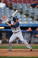 Brooklyn Cyclones second baseman Vincent Siena (11) at bat during the first game of a doubleheader against the Connecticut Tigers on September 2, 2015 at Senator Thomas J. Dodd Memorial Stadium in Norwich, Connecticut.  Brooklyn defeated Connecticut 7-1.  (Mike Janes/Four Seam Images)