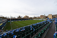 A general view of the Recreation Ground pitch. Gallagher Premiership match, between Bath Rugby and Harlequins on March 2, 2019 at the Recreation Ground in Bath, England. Photo by: Patrick Khachfe / Onside Images