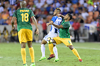 Houston, TX - Tuesday July 11, 2017: The National Teams of Honduras and French Guiana in Group A action during a 2017 CONCACAF Gold Cup match played at BBVA Compass Stadium.