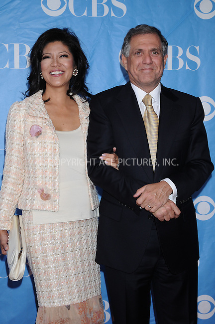 WWW.ACEPIXS.COM . . . . . ....May 20 2009, New York City....TV personality Julie Chen and husband CBS president and CEO Les Moonves at the 2009 CBS Upfront at Terminal 5 in Manhattan on May 20, 2009 in New York City.....Please byline: AJ SOKALNER - ACEPIXS.COM.. . . . . . ..Ace Pictures, Inc:  ..tel: (212) 243 8787 or (646) 769 0430..e-mail: info@acepixs.com..web: http://www.acepixs.com