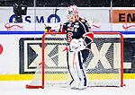 S&ouml;dert&auml;lje 2014-10-23 Ishockey Hockeyallsvenskan S&ouml;dert&auml;lje SK - Malm&ouml; Redhawks :  <br /> S&ouml;dert&auml;ljes m&aring;lvakt Tim Sandberg ser nedst&auml;md ut under matchen mellan S&ouml;dert&auml;lje SK och Malm&ouml; Redhawks <br /> (Foto: Kenta J&ouml;nsson) Nyckelord: Axa Sports Center Hockey Ishockey S&ouml;dert&auml;lje SK SSK Malm&ouml; Redhawks depp besviken besvikelse sorg ledsen deppig nedst&auml;md uppgiven sad disappointment disappointed dejected