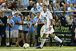 19 September 2014: North Carolina's Raby George (SWE). The Duke University Blue Devils hosted the University of North Carolina Tar Heels at Koskinen Stadium in Durham, North Carolina in a 2014 NCAA Division I Men's Soccer match. Duke won the game 2-1.
