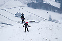 29/12/17<br /> <br /> Two young boys brave the high winds to go sledging above Edale in the Derbyshire Peak District.<br /> <br /> All Rights Reserved F Stop Press Ltd. +44 (0)1335 344240 +44 (0)7765 242650  www.fstoppress.com