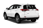Car pictures of rear three quarter view of a 2017 Toyota RAV4 LE 5 Door SUV angular rear