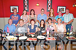 Birthday Bash : Margaret Kennelly, Moyvane, third from right seated, celebrating her birthday with family &amp; friends at Eabha Jones 's Restaurant, Listowel on Saturday evening last.<br /> Front : Sean &amp; Esther Foley, Annette Slemon, Margaret Kennelly, Elaine Foley &amp; Siobhan Dowling. <br /> Back : Ryan O'Connor, Suzanne Hennessy, Sarah O'Connor, Timmy Kennelly, Sharon &amp; Mike Flavin&amp; Donnacha Dowling.