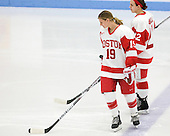 Jenelle Kohanchuk (BU - 19), Jill Cardella (BU - 22) - The Boston University Terriers defeated the visiting Northeastern University Huskies 3-0 on Tuesday, December 7, 2010, at Walter Brown Arena in Boston, Massachusetts.