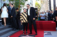 LOS ANGELES -JUL 26: Flor Silvestre, Pepe Aguilar at a ceremony honoring Pepe Aguilar with a Star on The Hollywood Walk of Fame on July 26, 2012 in Los Angeles, California