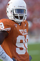 09 September 2006: Texas player Brian Orakpo pauses between warmups prior to the Longhorns 24-7 loss to the Ohio State Buckeyes at Darrell K Royal Memorial Stadium in Austin, TX.