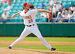 11 March 2006: John Patterson, pitcher for the Washington Nationals, winds up during a Spring Training game against the Los Angeles Dodgers. The Nationals defeated the Dodgers 2-1 in 10 innings at Space Coast Stadium, in Viera, Florida...Mandatory Photo Credit: Ed Wolfstein.