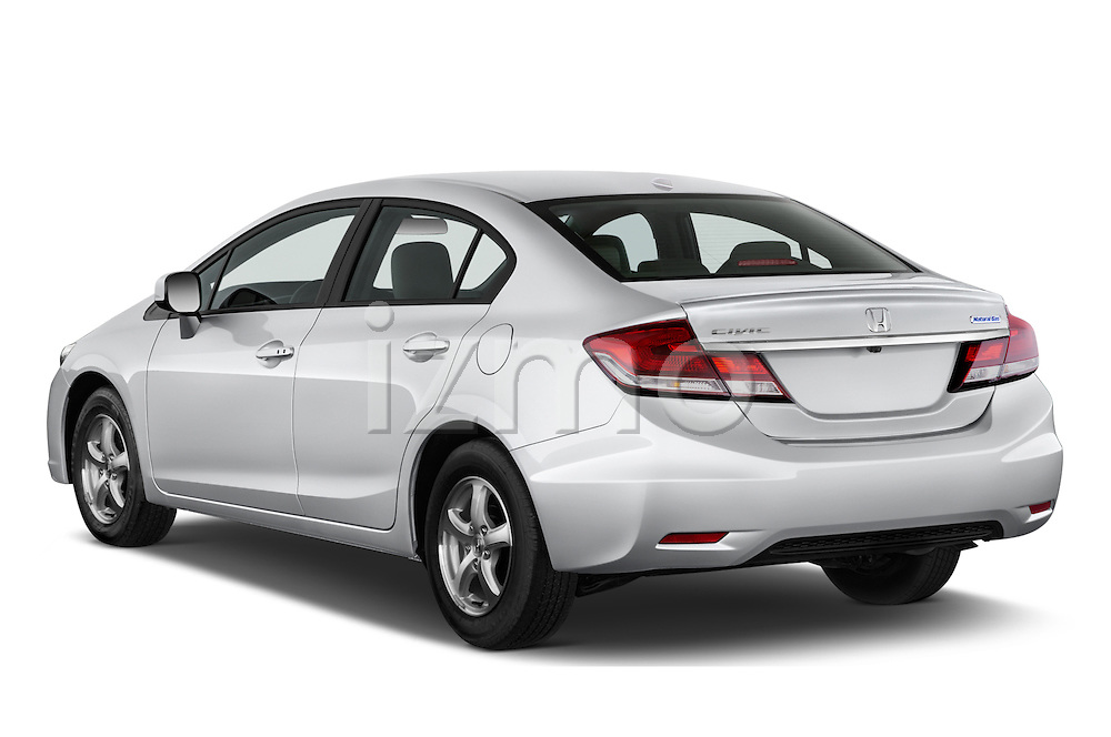 Car pictures of rear three quarter view of a 2015 Honda Civic CNG 4 Door Sedan angular rear