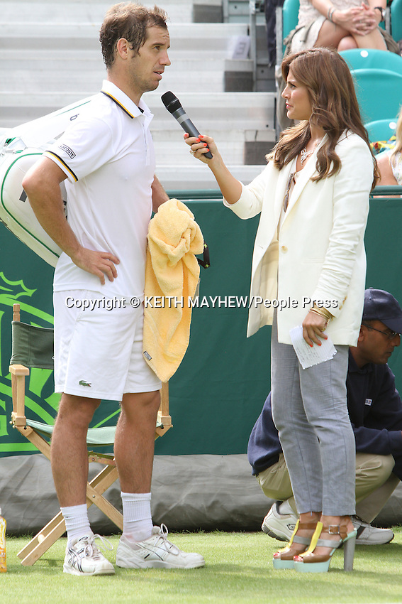 Richard Gasquet (France) is interviewed by Zoe Hardman at The Boodles Tennis Challenge held at Stoke Park, Buckinghamshire, UK - June 21st 2013<br /> <br /> Photo by Keith Mayhew