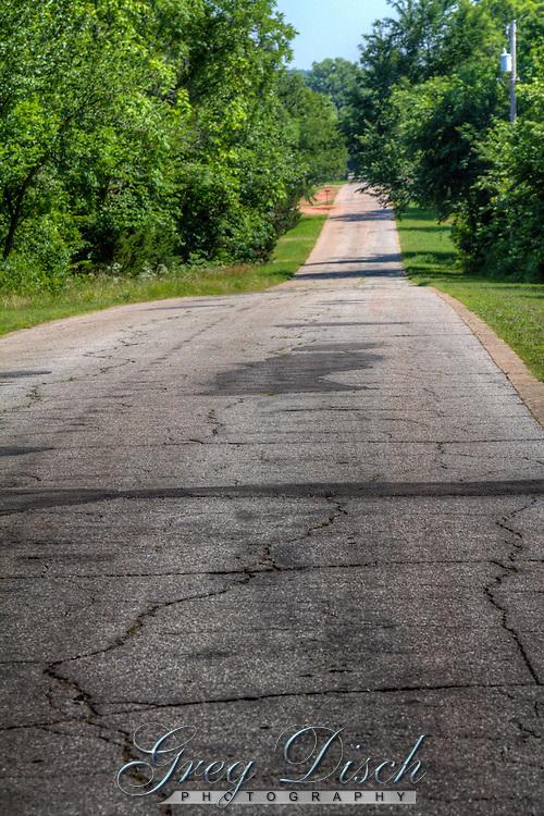 Old allignment of Route 66 through Arcadia Oklahoma.