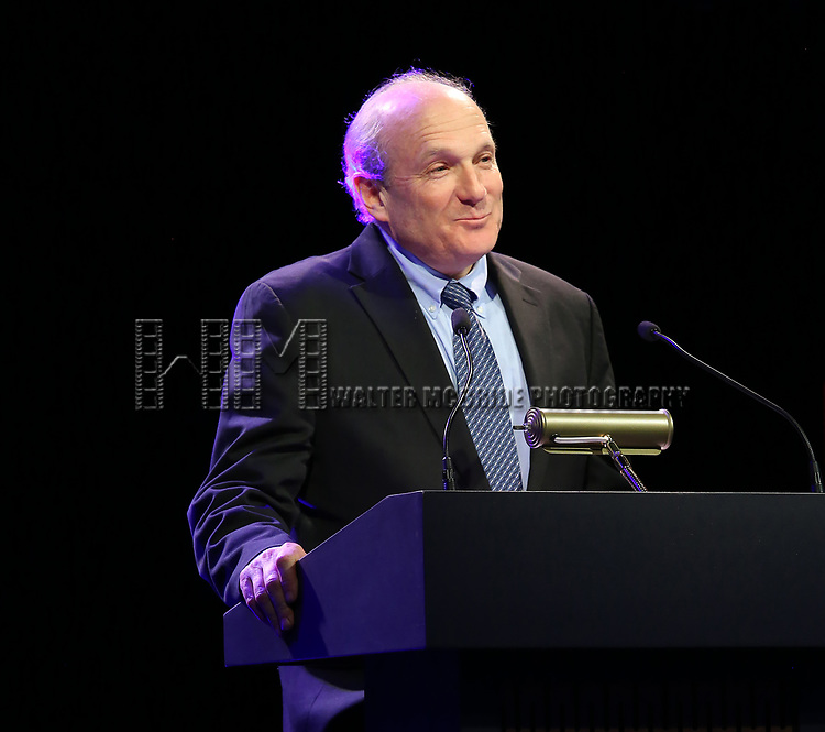 Donald Holder on stage at the Stage Directors and Choreographers Foundation event honoring Julie Taymor with the Mr. Abbott Award at the Bohemian National Hall on April 2, 2018 in New York City.