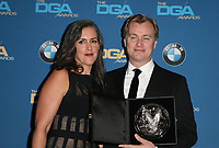 BEVERLY HILLS, CA - FEBRUARY 3: Emma Thomas and Christopher Nolan in the press room at the 70th Annual DGA Awards at The Beverly Hilton Hotel in Beverly Hills, California on February 3, 2018. <br /> CAP/MPI/FS<br /> &copy;FS/MPI/Capital Pictures