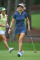 Michelle Wie (USA) sinks her putt on 10 during round 1 of the U.S. Women's Open Championship, Shoal Creek Country Club, at Birmingham, Alabama, USA. 5/31/2018.<br /> Picture: Golffile   Ken Murray<br /> <br /> All photo usage must carry mandatory copyright credit (© Golffile   Ken Murray)